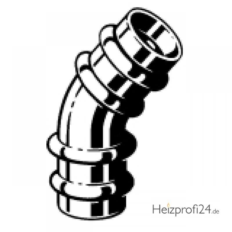Sanpress-Bogen 45°, mit SC-Contur, 22 Viega 112004