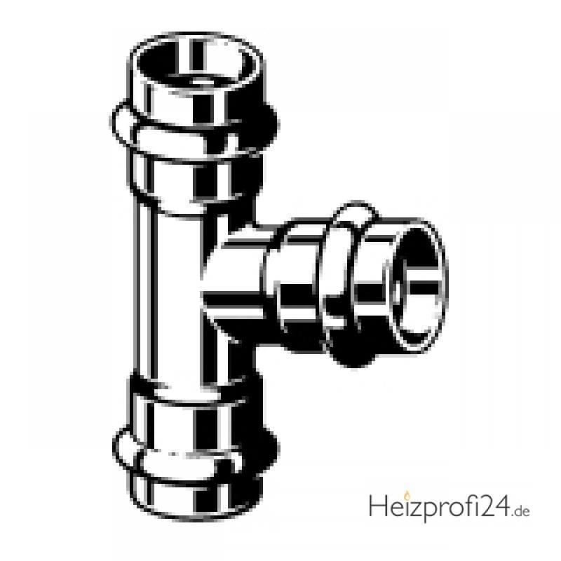 Sanpress Inox-T-Stück, mit SC-Contur, 22 Viega 435875