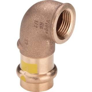 Profipress G (Gas)-Winkel 90°, mit SC-Contur, 22xRp1/2                    Viega 345860