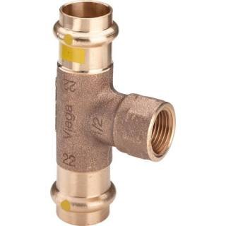 Profipress G (Gas)-T-Stück, mit SC-Contur, 22xRp3/4x22                 Viega 352738