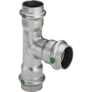 Sanpress Inox-T-Stück, mit SC-Contur, 28x15x28                    Viega 435950