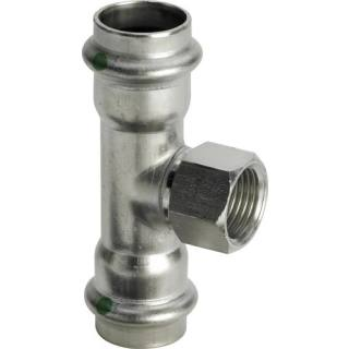 Sanpress Inox-T-Stück, mit SC-Contur, 22xRp3/4x22                 Viega 437183