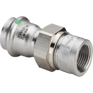 Sanpress Inox-Verschraubung,SC,flachd., 15xRp1/2                    Viega 437459
