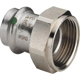 Sanpress Inox-Verschraubung, SC,flachd., 15xG3/4                     Viega 437589