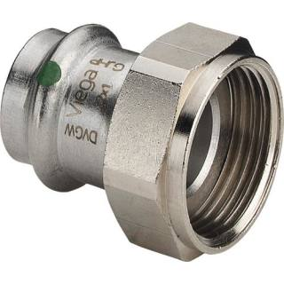 Sanpress Inox-Verschraubung, SC,flachd., 35xG11/2                    Viega 437862