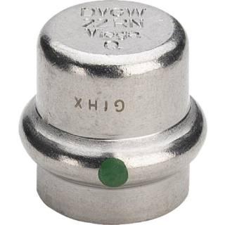 Sanpress Inox-Verschlusskappe, SC-Contur 28                          Viega 452889