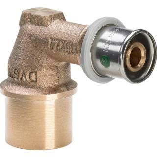 Sanfix P-Winkel 90°, mit SC-Contur, 20xRp1/2                    Viega 303792