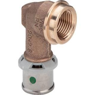 Sanfix P-Winkel, kurz, mit SC-Contur, 16xRp1/2                    Viega 303808