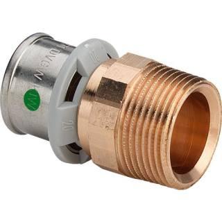 Sanfix P-Übergangsstück, gerade, mit SC, 20xR1/2                     Viega 304805