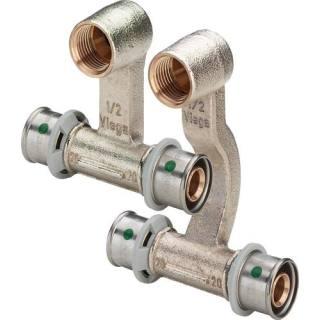 Sanfix P-Sockelleisten-Heizkörperanschluss, SC, 20x1/2x20                   Viega 409340
