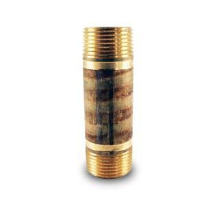 "Rotguss Rohrnippel Langnippel Nr.3530, beiderseits Außengewinde 1"" 60 mm"