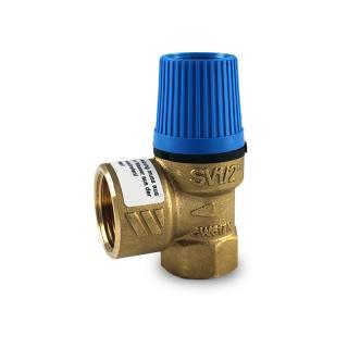 """Watts Membran - Sicherheitsventil für geschlossene Warmwasserbereiter, bauteilgeprüft, Gehäuse aus Messing 1/2"""" 8 bar"""