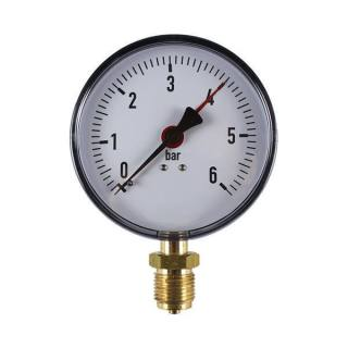 """Manometer Anschluss unten Klasse 2,5 1/2"""" ø100mm 0 - 6 bar"""
