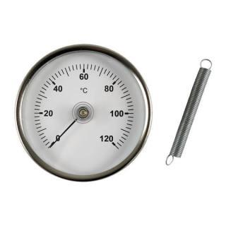 Bimetall-Anlege-Zeigerthermometer 0-120°C, Klasse 2,5