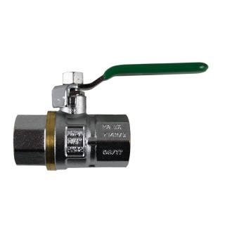 Kugelhahn I/I mit grünem Hebelgriff, für Heizung oder Trinkwasser nach DIN