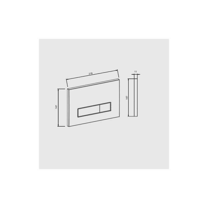 JOMO TSR Betätigung 2-Mengen-Spülung Drückerplatte WC Spülung