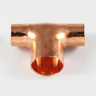 Kupfer Lötfitting T-Stück reduziert 15 x18 x15 mm