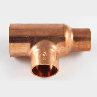 Kupfer Lötfitting T-Stück reduziert 28 x18 x22 mm