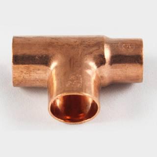 Kupfer Lötfitting T-Stück reduziert 28 x28 x22 mm