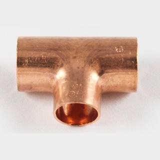 Kupfer Lötfitting T-Stück reduziert 35 x22 x35 mm
