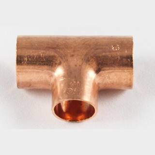 Kupfer Lötfitting T-Stück reduziert 35 x28 x35 mm