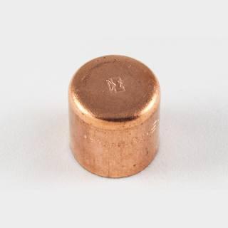 Kupfer Lötfitting Kappe 35 mm