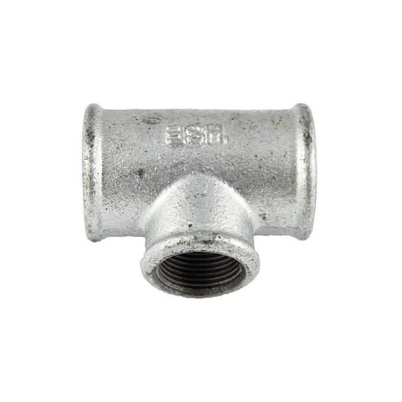 Fitting verzinkt Temperguss T-Stück 90° IG Nr.130